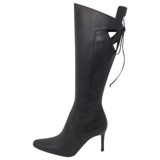Valentino Leather Cut-Out Boots