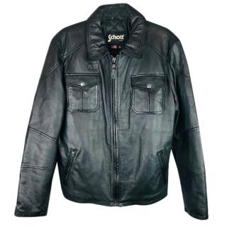 Schott NYC Kennedy Leather Car Coat