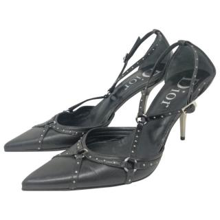 Dior Harness Strap Pointed Toe Pumps
