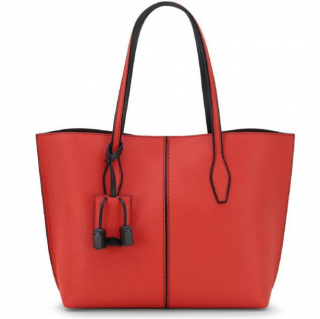 Tods Red Joy Tote Bag