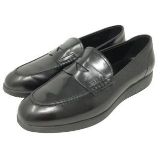 Hogan black moccasin loafers