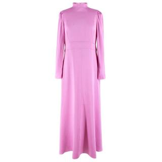 Valentino Pink Satin High Neck Gown