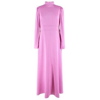 Valentino Pink Satin High Neck Gown