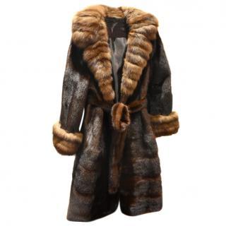 Eva Fechner Mink coat with sable collar