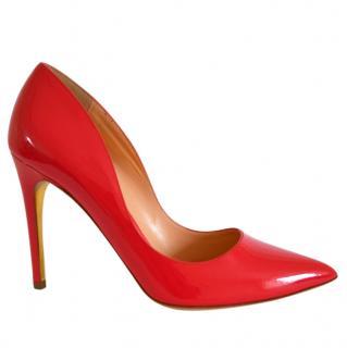 Rupert Sanderson Pink Coral Patent Heel Pumps