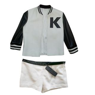 Karl Lagerfeld jacket and shorts