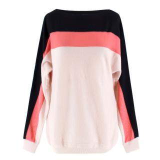 Fendi White Striped Wool Jumper
