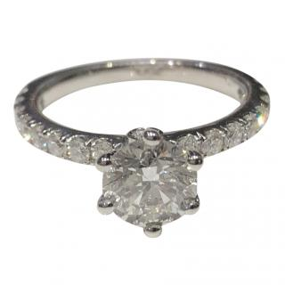Bespoke 1.70 ct. VS2/G GIA Natural Round Cut Diamond Engagement Ring