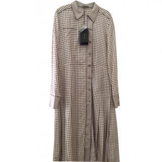 Bottega Veneta silk printed shirt dress, size 44 NEW