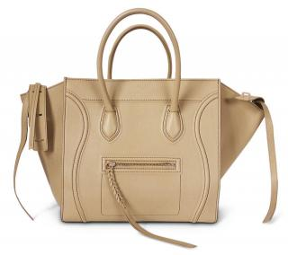 Celine Light Khaki Medium Square Luggage Phantom Bag