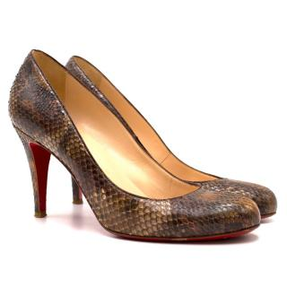 ) Christian Louboutin Snakeskin Heels