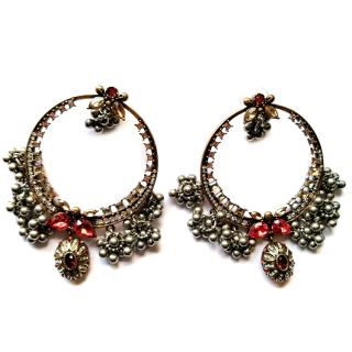 Alexander McQueen Crystal Creole Earrings