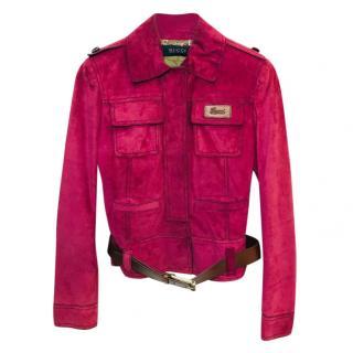 Gucci Suede Jacket.