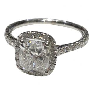 Bespoke 2.10 Ct  Cushion Cut Diamond Halo Ring H,VS2 GIA White