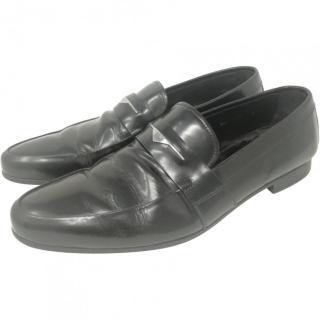 Prada Men's Black leather Moccasins