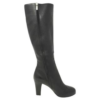 Sergio Rossi black leather boots
