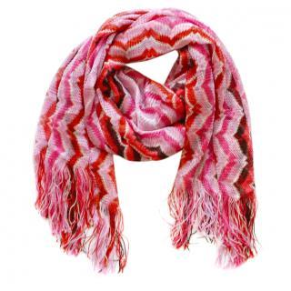 Missoni Pink Knit Scarf