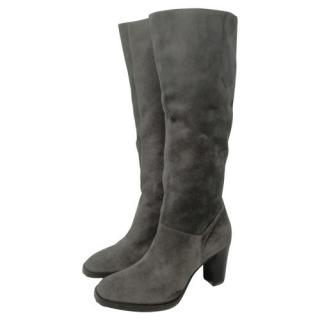 Pollini grey suede boots