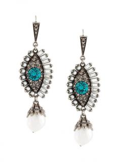 Alexander McQueen jewelled eye earrings