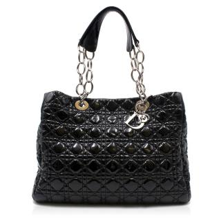 Dior Black Patent Cannage Shopping Tote