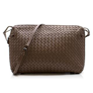 Bottega Veneta Brown Intrecciato Nappa Nodini Bag