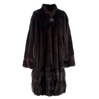 Zwirn x Blackglama Black Mink Fur Coat