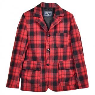 Woolwich Red Tartan  Jacket, size S