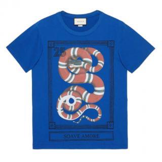 Gucci Kingsnake Print Soave Amore T-Shirt
