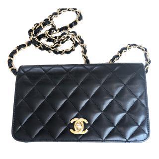 Chanel Black Quilted Single Flap Shoulder Bag