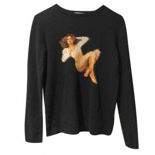 Bella Freud Wool & Cashmere Pixelated Jumper