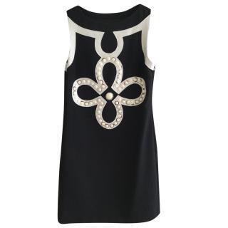 Tory Burch Black & White Shift Dress