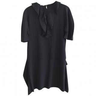 Miu Miu Silk Ruffled Dress