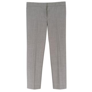 Alexander McQueen Grey Wool Cigarette Trousers