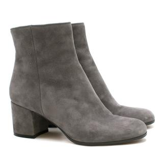 Gianvito Rossi Grey Suede Ankle Boots