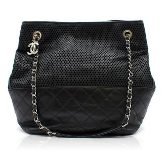 Chanel Black Up In The Air Tote Bag