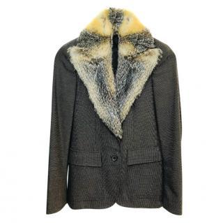 Gucci Wool Jacket With Fur Collar Jacket
