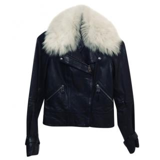Belstaff Leather Jacket With Detachable Collar