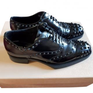 Prada Studded Derby Brogues