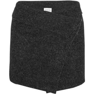 Isabel Marant Etoile Dailon wool-blend boucl� mini wrap skirt