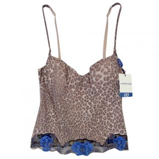 Cotton Club Couture Leopard Print Embroidered Corset