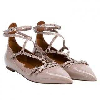 Valentino Love Latch Ballerina Flats