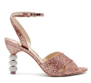 Sophia Webster Natalia Mid Ball Glitter Sandals