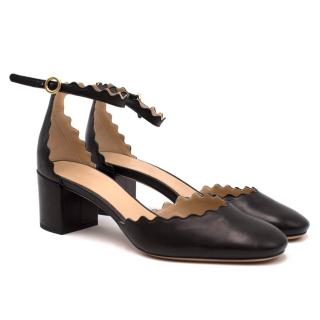Chloe Black Scalloped Sandals