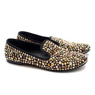 Guiseppe Zanotti Crystal Embellished Loafers