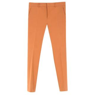 Gucci Terracotta Cigarette Trousers