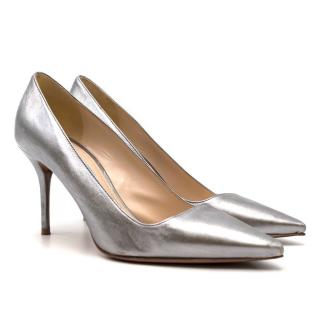 Prada Silver Metallic Pumps
