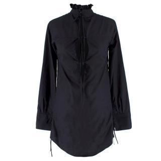 Cecelie Bahnsen Black Ruffled Dress