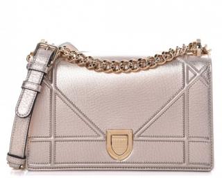 Christian Dior Metallic Copper Grained Calfskin Small Diorama Bag