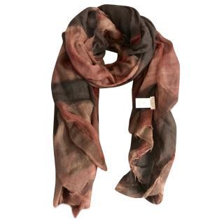 BRUNELLO CUCINELLI Red 100% cashmere blend maxi scarf