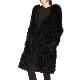 Brock Collection Toscana Shearling & Leather Coat